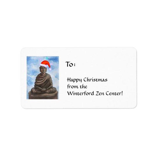 Christmas Buddha II Labels