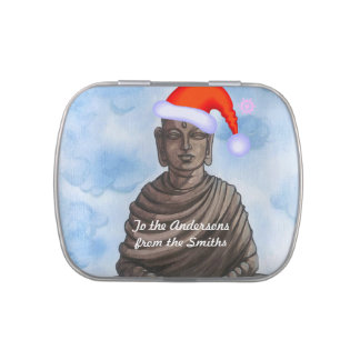 Christmas Buddha! Jelly Belly Candy Tin
