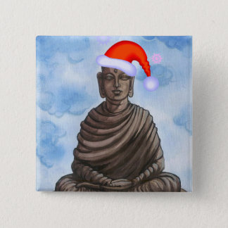 Christmas Buddha! Pinback Button