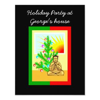 Christmas Buddha w/Tree! Custom Invitations