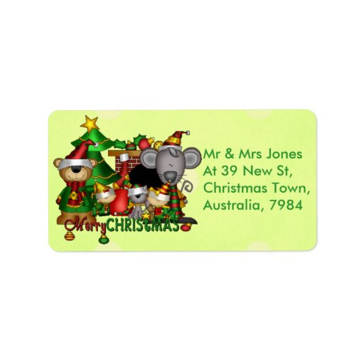 Christmas Buddies Address Label