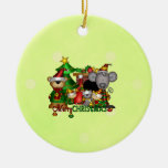 Christmas Buddies Double-Sided Ceramic Round Christmas Ornament