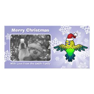 Christmas Budgie Card