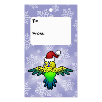 Christmas Budgie Double-Sided Standard Business Cards (Pack Of 100)