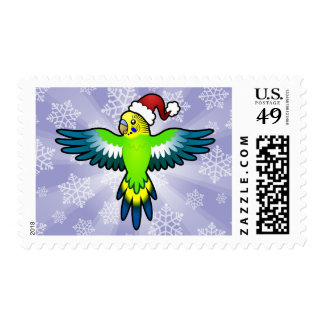 Christmas Budgie / Parakeet Postage