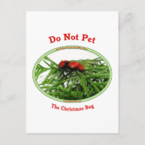 Christmas Bug Cow Killer Wasp Holiday Postcard