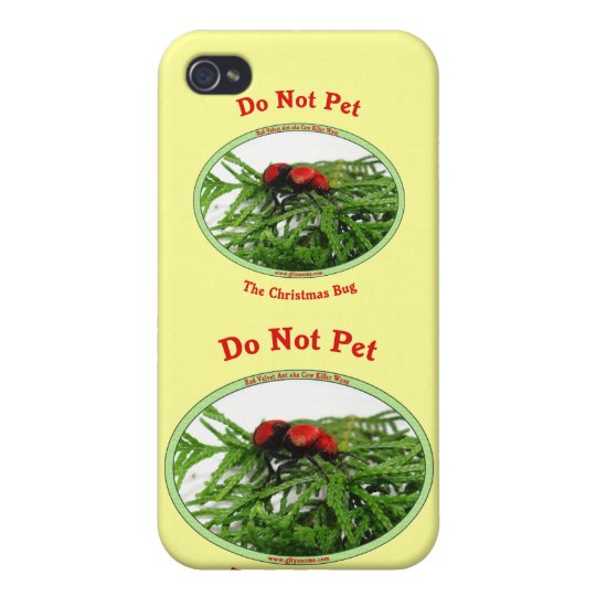 Christmas Bug Cow Killer Wasp iPhone 4/4S Case