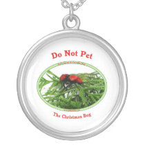 Christmas Bug Cow Killer Wasp Silver Plated Necklace