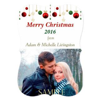 Christmas Bulb Border Photo Card