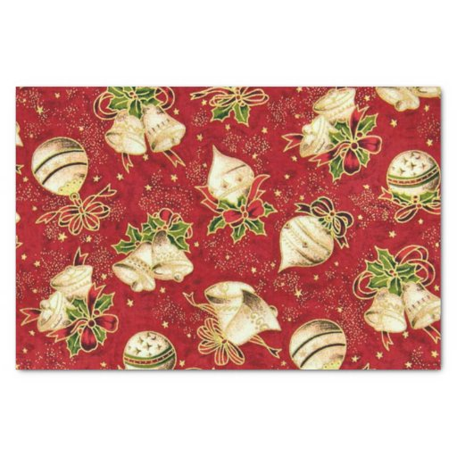 "Christmas Bulb pattern tissue paper 10"" X 15"" Tissue Paper"