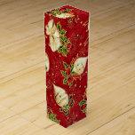 "Christmas Bulb pattern wine gift box<br><div class=""desc"">design by Darq Illusions</div>"