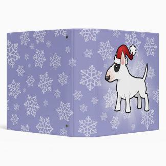 Christmas Bull Terrier 3 Ring Binders