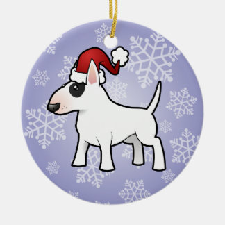 Christmas Bull Terrier Ceramic Ornament