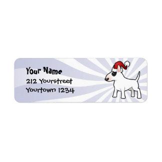Christmas Bull Terrier Return Address Label