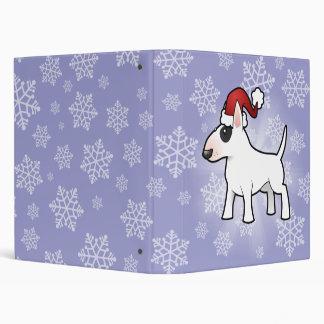 Christmas Bull Terrier Vinyl Binder