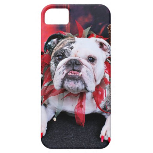 Christmas - Bulldog - Delilah iPhone 5 Covers