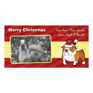 Christmas Bulldog Personalized Photo Card
