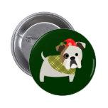 Christmas Bulldog Pins