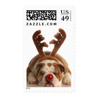 Christmas Bulldog Postage