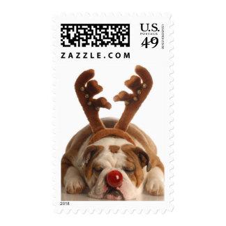 Christmas Bulldog Stamps