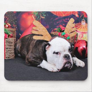 Christmas - Bulldog - Spike Mouse Pad