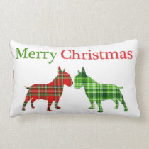 Christmas Bully Dogs Pillow
