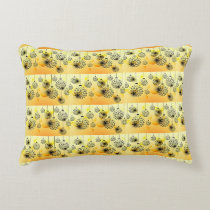 "**CHRISTMAS BULSB** PILLOW WITH ""YELLOW"" BACK SID"