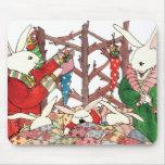Christmas Bunny Family Mouse Pad