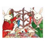 Christmas Bunny Family Postcard
