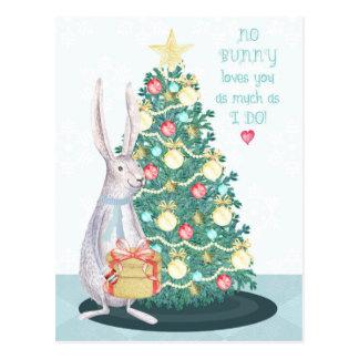 Christmas Bunny for Kids Postcard