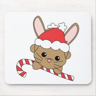 Christmas Bunny Mouse Pad