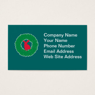 Christmas Bunny Rabbit in a Wreath Business Card
