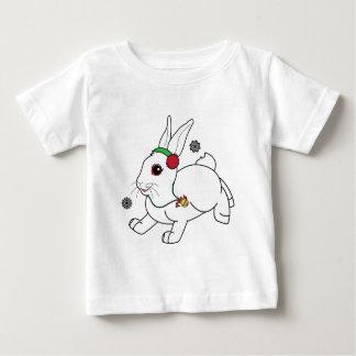 Christmas Bunny with Earmuffs Baby T-Shirt