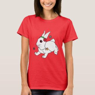Christmas Bunny with Earmuffs T-Shirt
