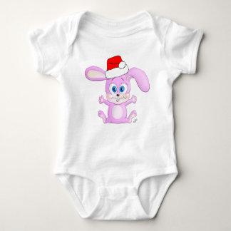 Christmas Bunny with Santa Hat - Infant Apparel Shirts