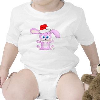 Christmas Bunny with Santa Hat - Infant Apparel Baby Bodysuit