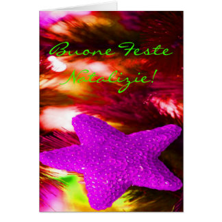 Christmas Buone Feste Natalizie Purple Star I Card