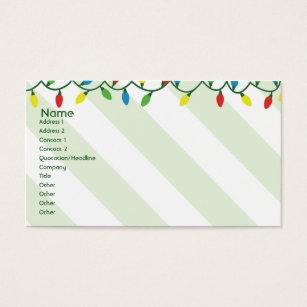 Christmas light business cards templates zazzle christmas business business card flashek Choice Image