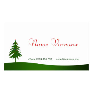 Christmas Double-Sided Standard Business Cards (Pack Of 100)