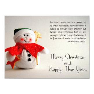 "Christmas Business Card 6.5"" X 8.75"" Invitation Card"