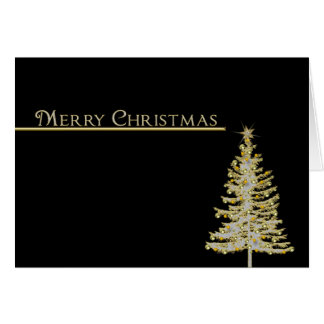 Christmas -Business - Tree - Gold/Black Card