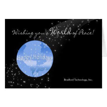 Professional Business Christmas - Business - World of Peace Card