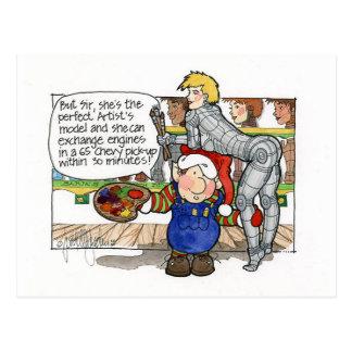 "Christmas ""But Sir"" Cartoon No. 3 Postcard"