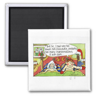 """Christmas """"But Sir"""" Cartoon No.4 2 Inch Square Magnet"""