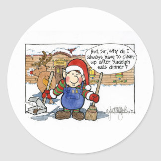 "Christmas ""But Sir"" Cartoon No. 7 Sticker"