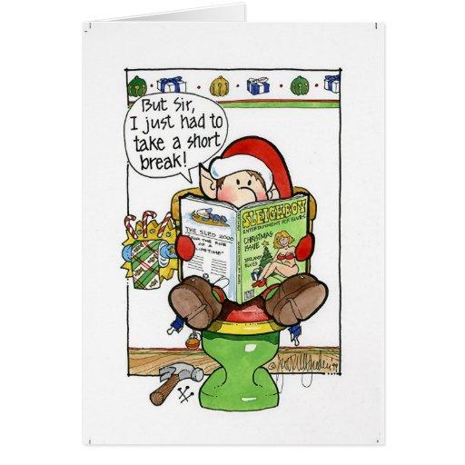 "Christmas ""But Sir"" Cartoon no. 8 Greeting Card"