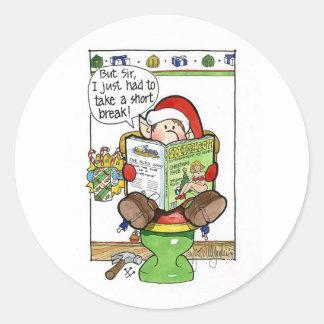 "Christmas ""But Sir"" Cartoon no. 8 Sticker"
