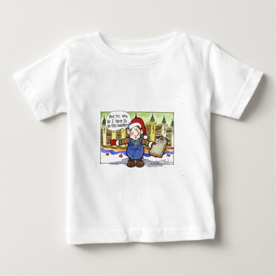 "Christmas ""But Sir"" Cartoon No. 9 Baby T-Shirt"