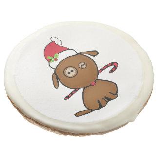Christmas Button Dog Sugar Cookie