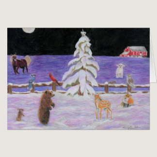 Christmas by Autistic Artist Marci Deutsch Card